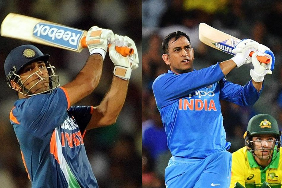 ICC shares the MS dhoni picture under 10 year challenge category, dhonis fans are thrilled
