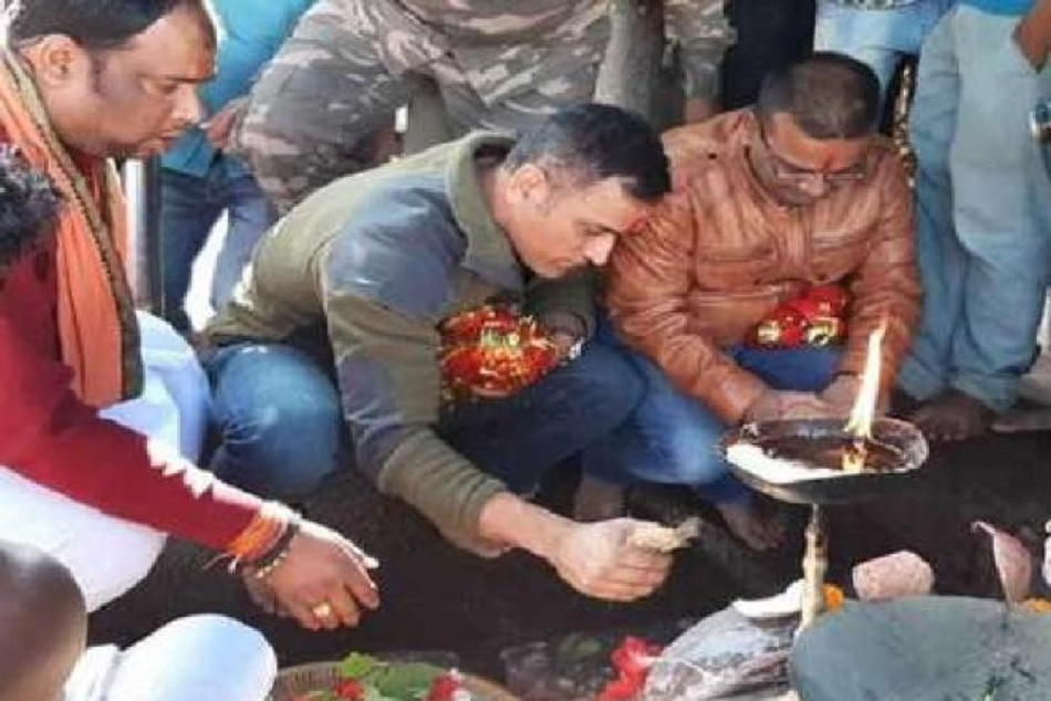 MS Dhoni visits iconic Deori temple ahead of Australia series