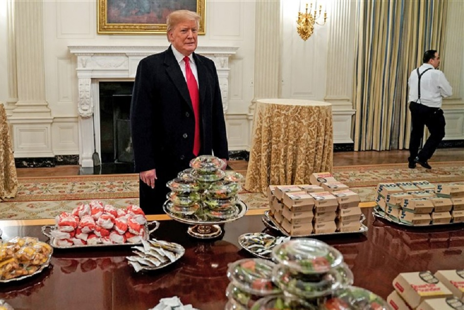 Donald Trump Ordered Hamburgers French Fries Pizzas Football Team