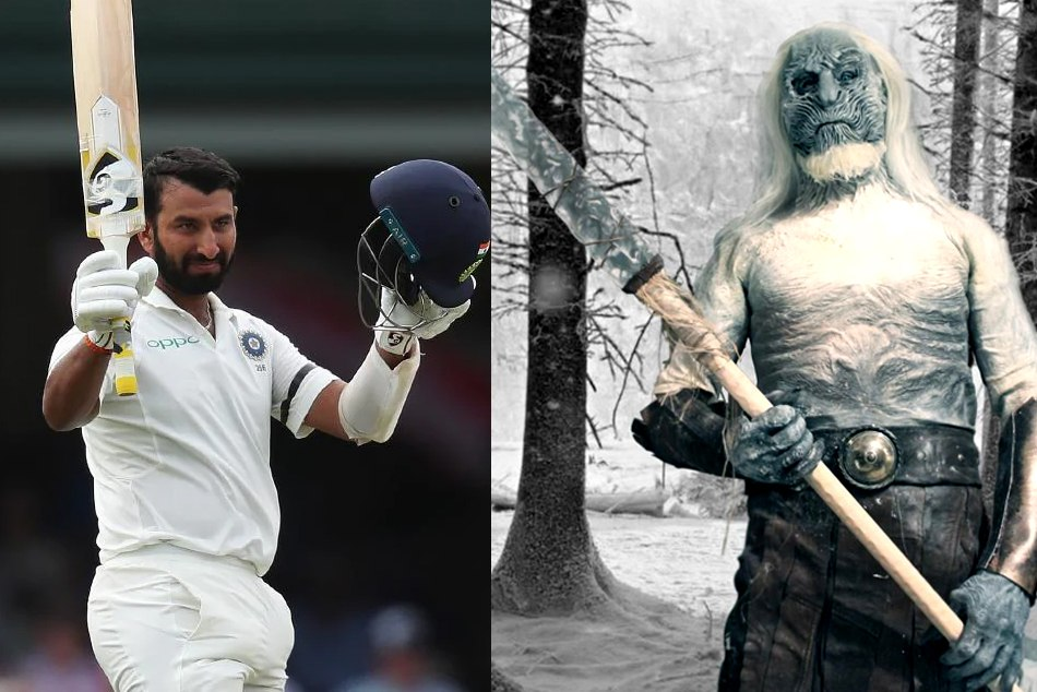 virat kohli is compared cheteshwar pujara with the white walkers of games of thrones