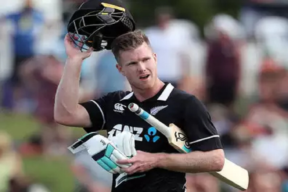 New Zealands James Neesham smashes five sixes in over against Sri Lanka