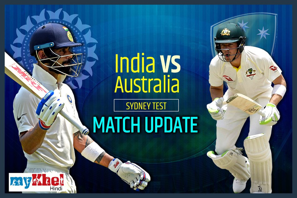 Live Cricket Score India Vs Australia 4th Test At Sydney Day