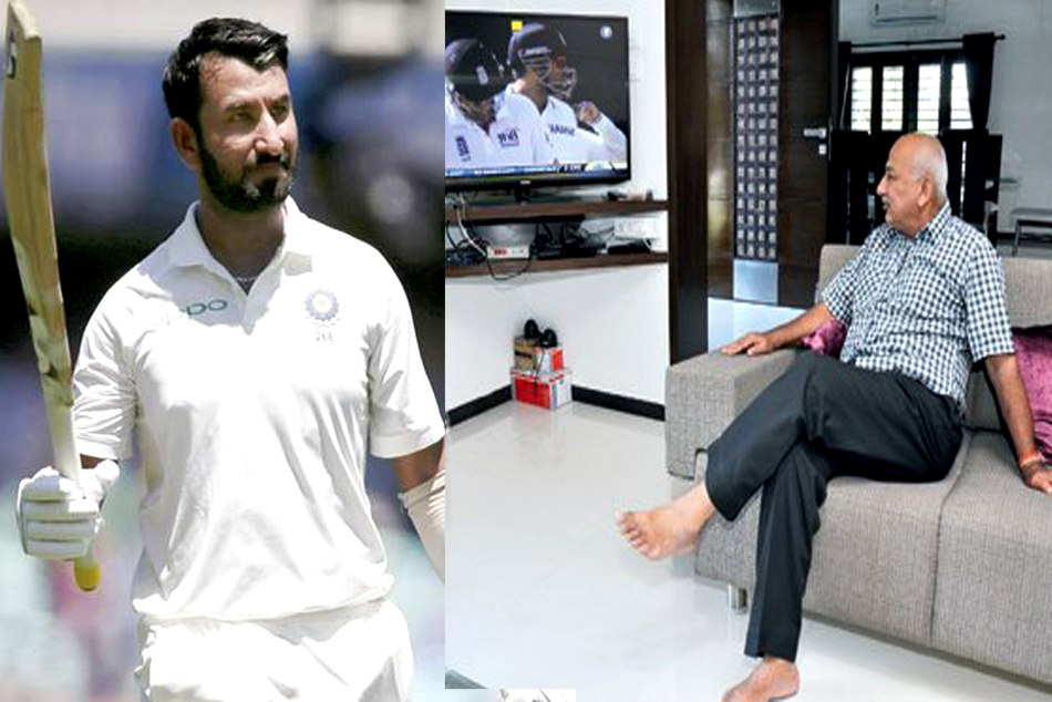 Pujara's father couldn't watch his son's epic knock in Sydney