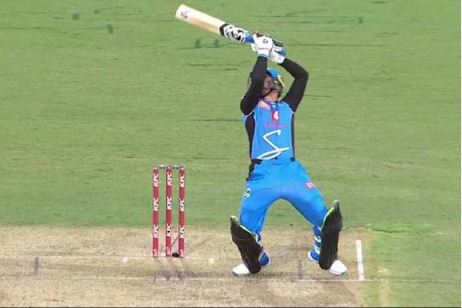 Video Big Bash League Rashid Khan Plays Ms Dhoni S Helicopter Shot Again