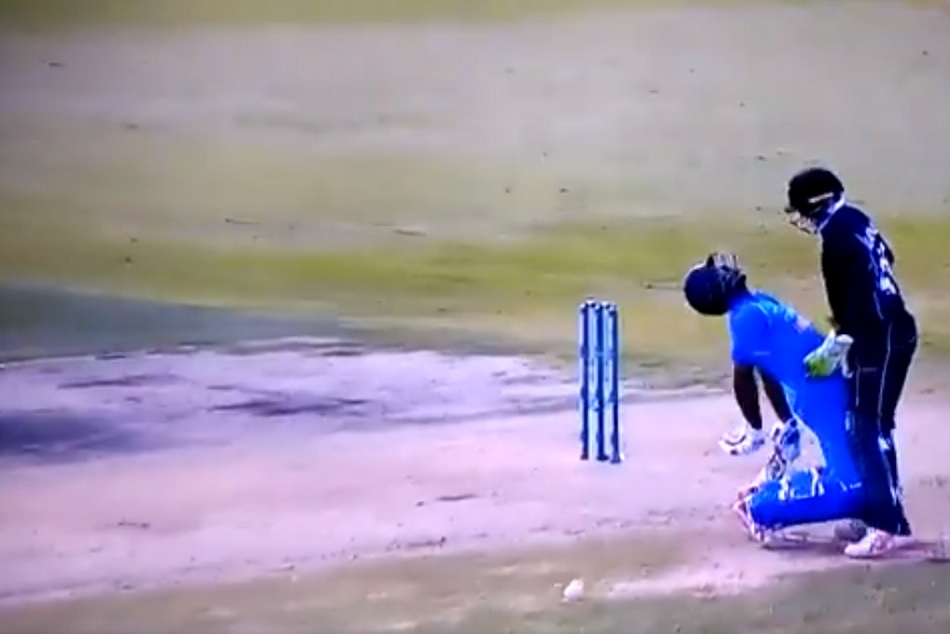 Ambati Rayudu got smacked on the back with boult throw Watch Video