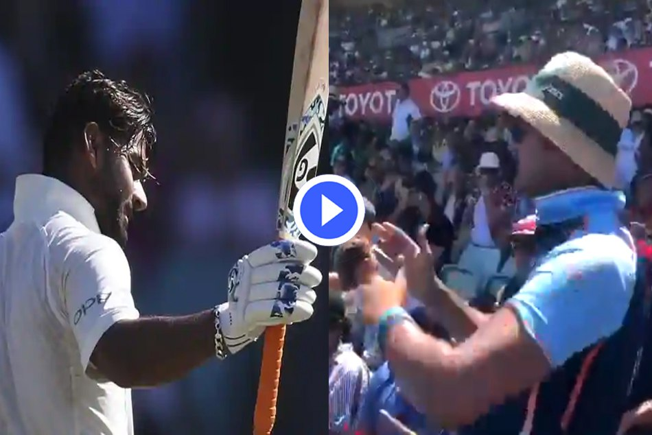 Bharat army taunt on Australians while singing a song on rishabh pant in Sydney test