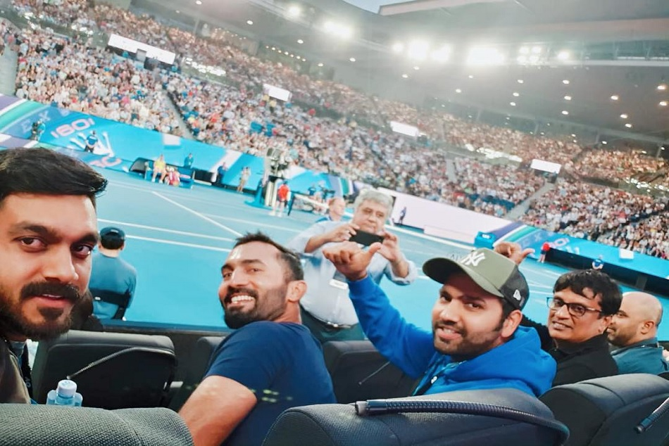 Rohit Sharma Watch Thee Rahael Nadal Match Australian Open Melbourne