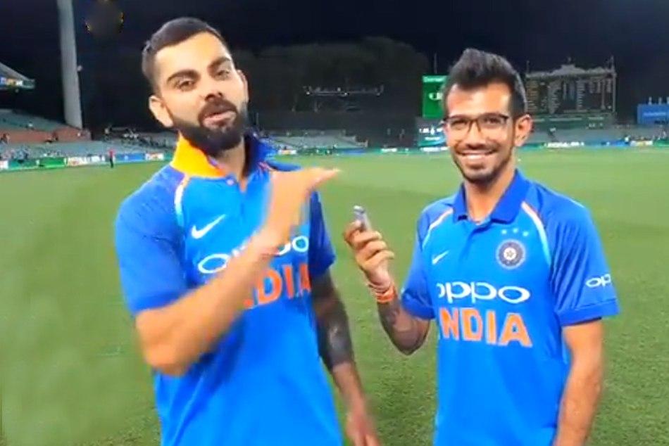 Virat Kohli with chahal