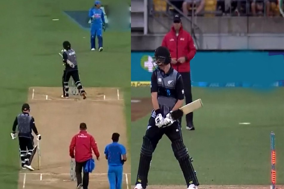 Colin Munro starts walking towards pavilion after Hit-wicket by wind, WATCH