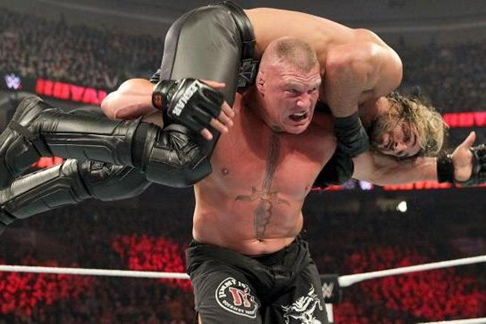 Before Wrestlemania 35 Brock Lesnar Attack On Seth Rollins