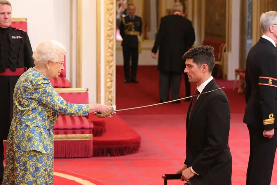 Alastair Cook Receives Knighthood At Buckingham Palace