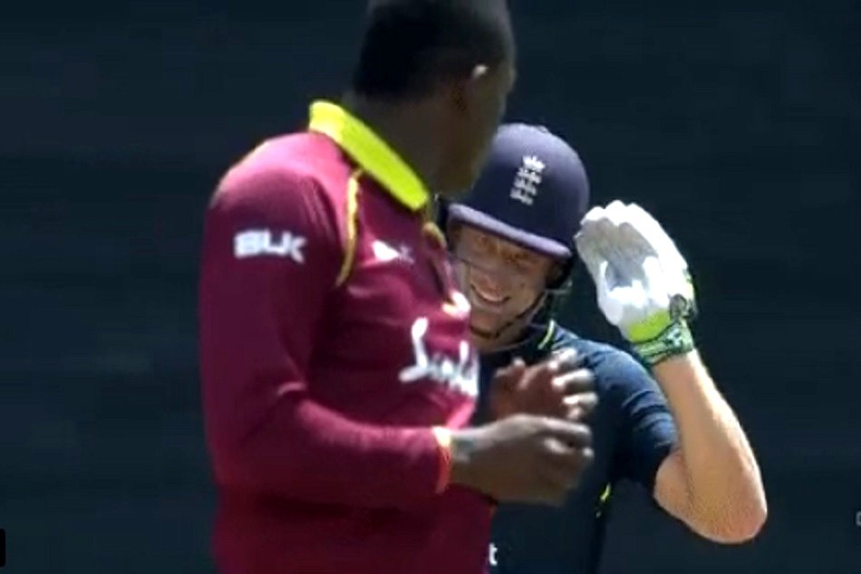 ENGvsWI: Jos Buttler hits Sheldon Cottrell For Six and gives him A salute - VIDEO