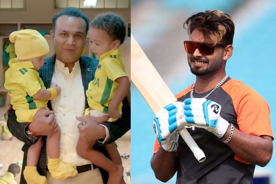 rishabh pant reacts on the Virender sehwag babysitting Video