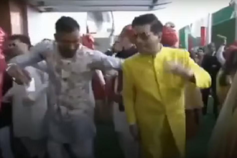 Video: Hardik Pandya is dancing with karan johar in akash ambani and shloka mehta wedding