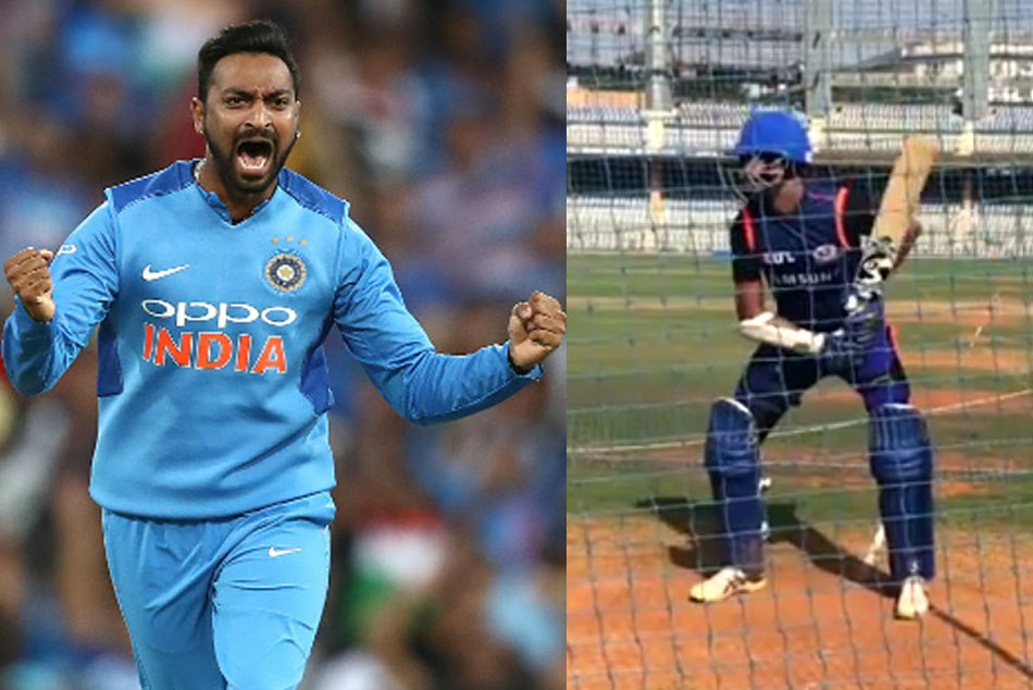 Robin Singh gives a challenge to Krunal Pandya to hit 10 runs in 3 ball, WATCH what happen next