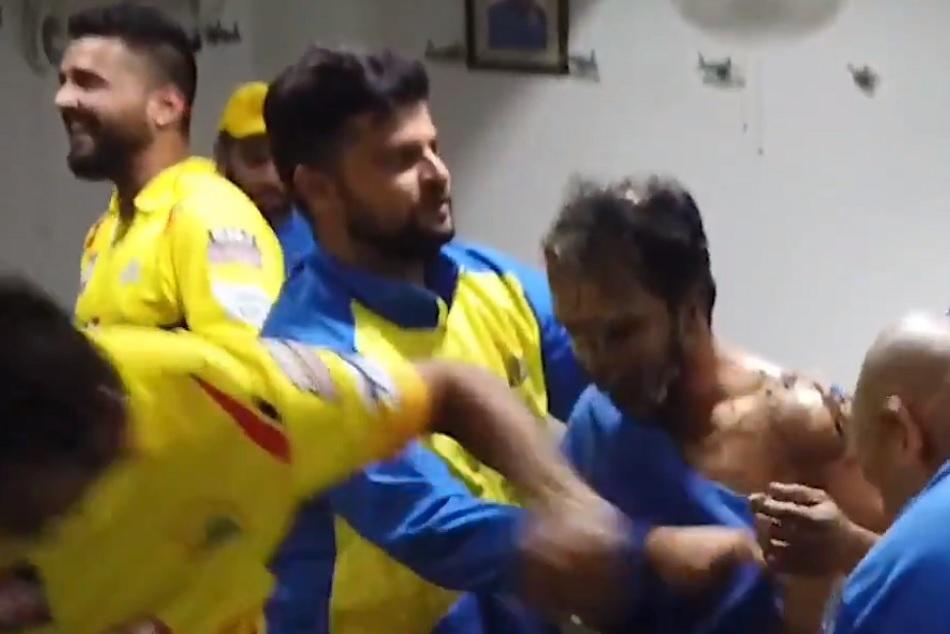 Ipl 2019 When Ms Dhoni Abuses Suresh Raina In Kedar Jadhav Birthday Bash Video