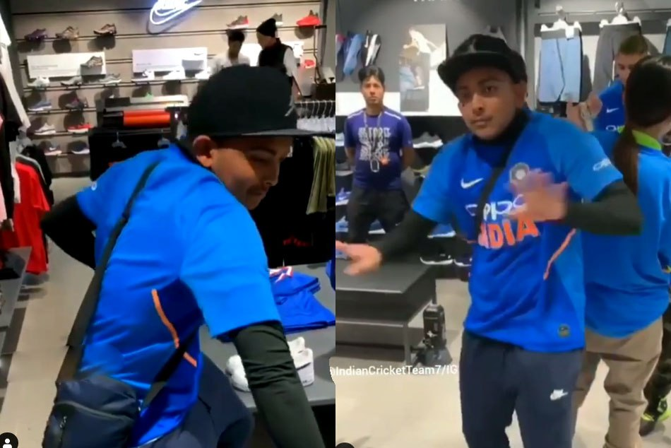 Watch Prithvi Shaw Dancing On Rapper Emiway Bantai S Song Bohot Hard