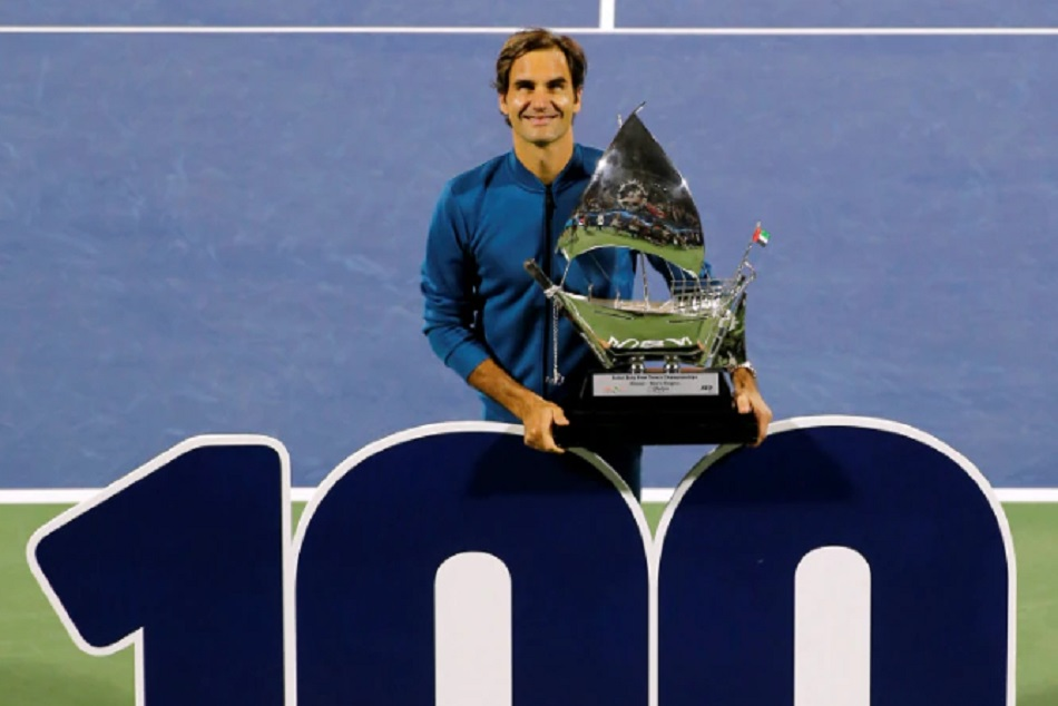 Roger Federer Wins His 100th Career Title