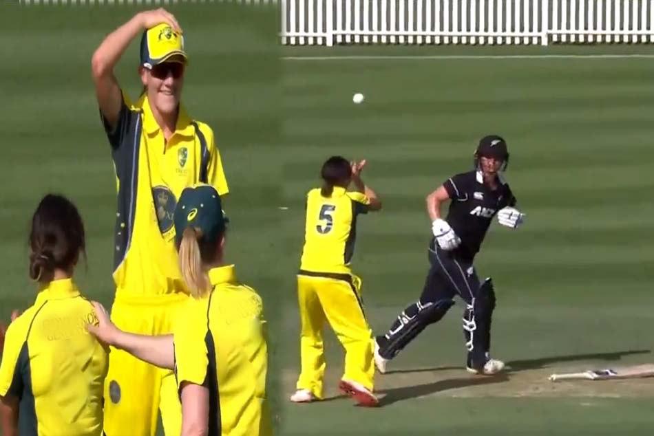 New Zealands batsman katie parkins bizarre dismissal makes you stunned