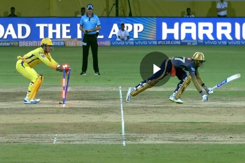 IPL 2019: MS Dhonis blazing fast stumping of subhman gill made imran tahir day, VIDEO