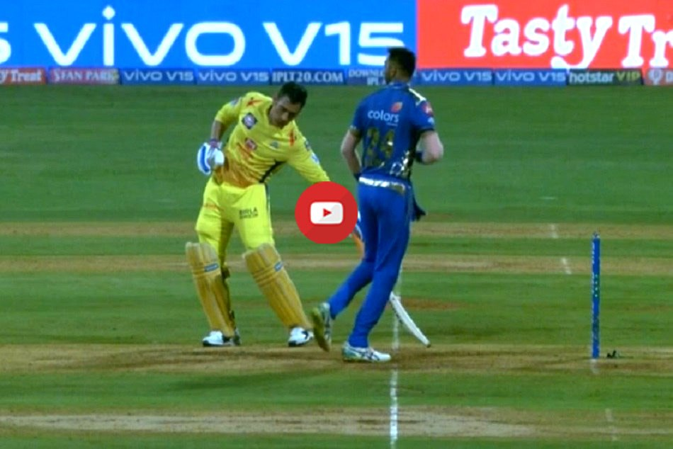 Krunal Pandya Tries To Mankad Ms Dhoni Ipl 2019 15th Match