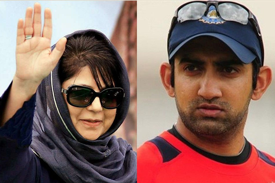 Gautam Gambhir Has A Big Twitter War With Mehbooba Mufti Before Being Blocked By Her