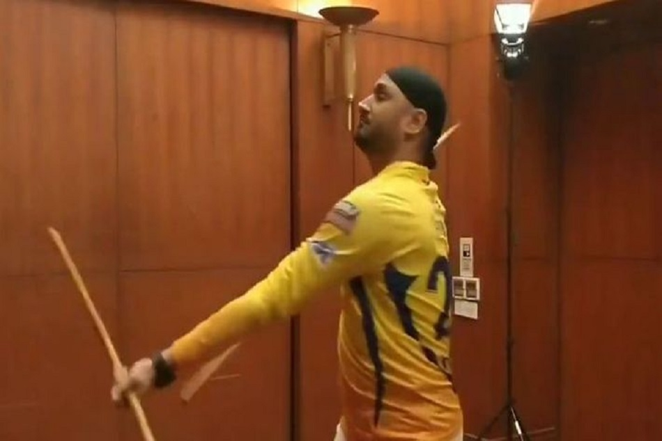 Watch Video Harbhajan Singh Doing Someskills Of Silambam