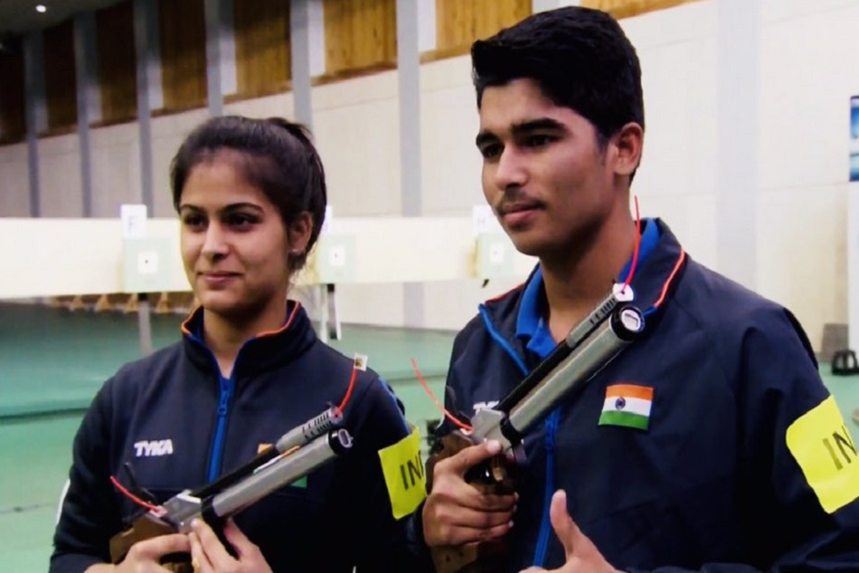 Manu Bhaker And Saurabh Chaudhary Win Gold In 10m Air Pistol Mixed Team Event
