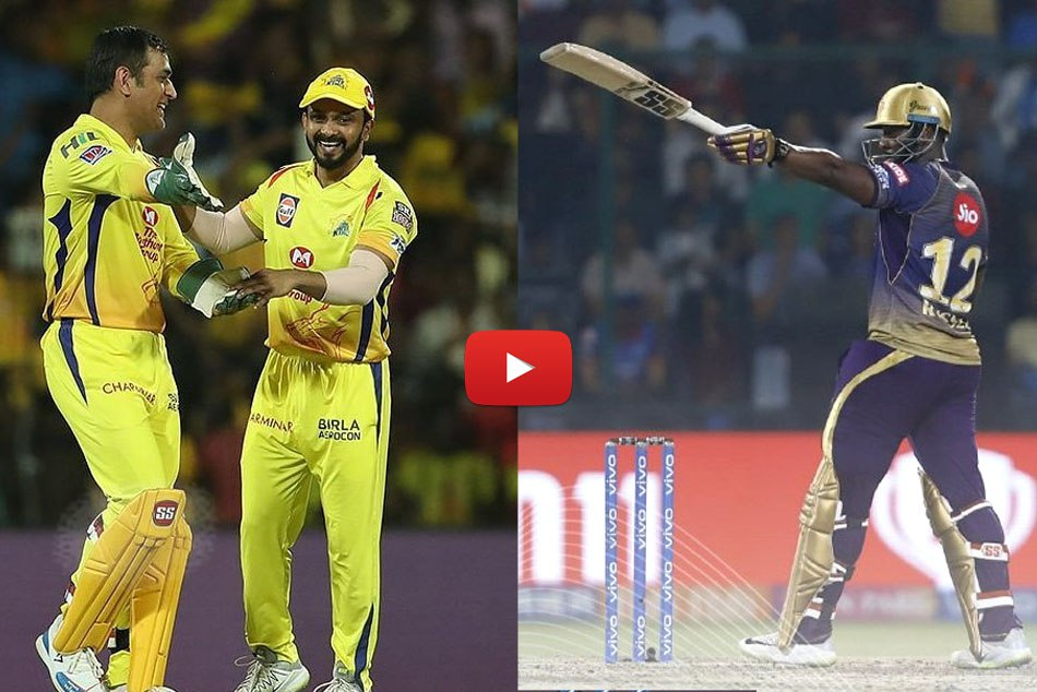 IPL 2019: MS Dhoni reacts to Andre Russell, Kaun banda itne chakke marta hai, Video