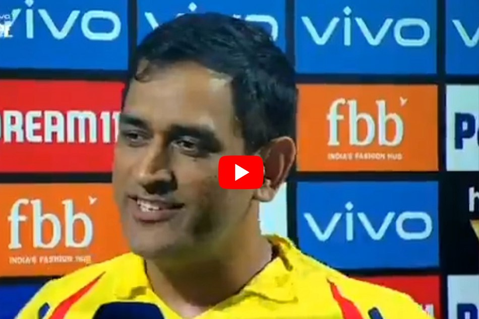 IPL 2019: MS Dhoni reveals the secret of CSK success in a witty way, WATCH