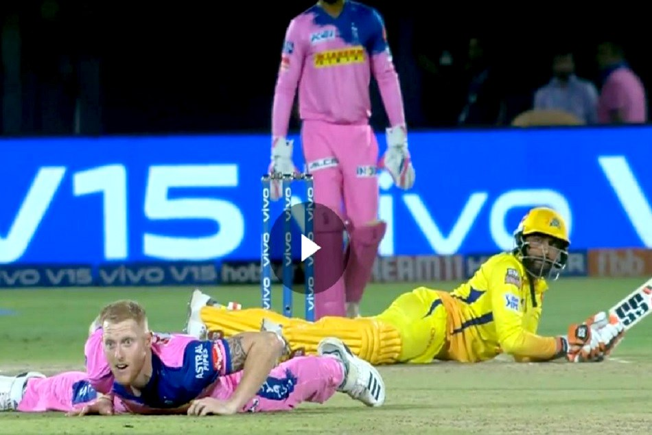 IPL 2019: Ravindra Jadeja and Ben Stokes fall to the ground in action packed incident, WATCH