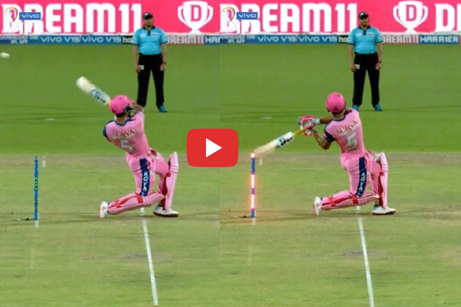 IPL 2019: Reyan Prayag bizarre manner of hit wicket out confused the umpire, WATCH