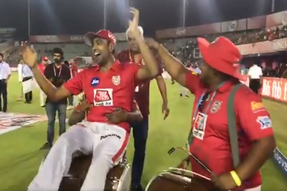 Ipl 2019 R Ashiwn Doing Some Bhangra Moves After The Win Against Rr Video