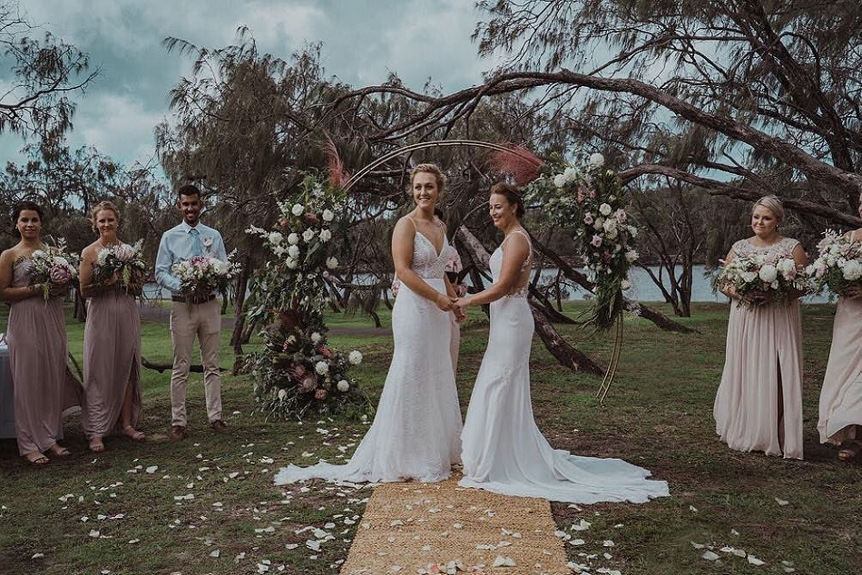 Two Women S Cricketers Named Nicola Hancock And Hayley Jensen Tie Knot