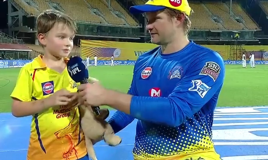 Shane Watson Son Reveals Favourite Csk Player