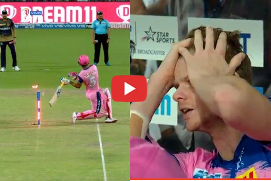 Teve Smith Dramatic Reaction To Riyan Parag Unfortunate Dismissal