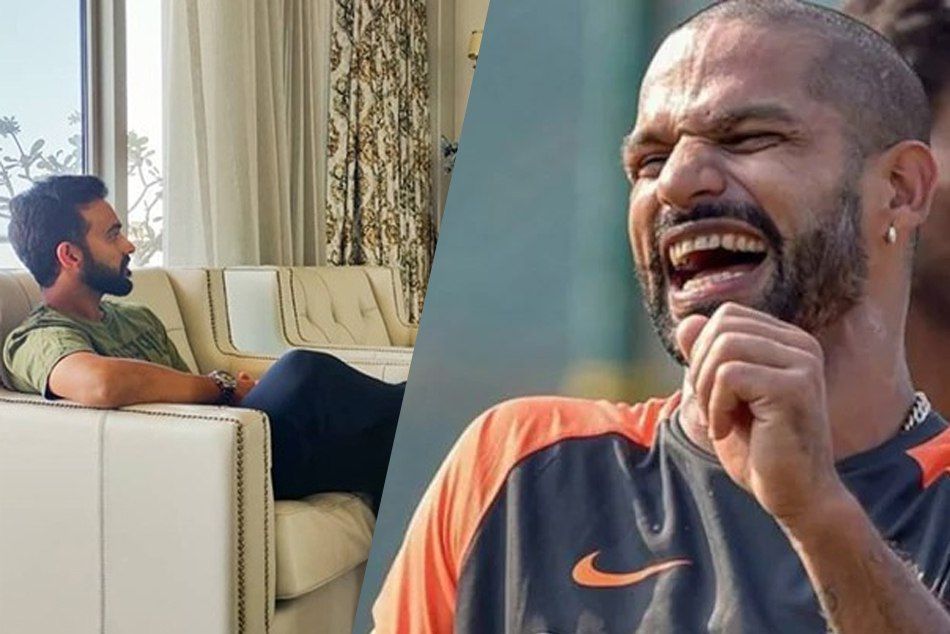 Ajinkya Rahane Is Trolled By Shikhar Dhawan On His Instagram Tv Watching Post