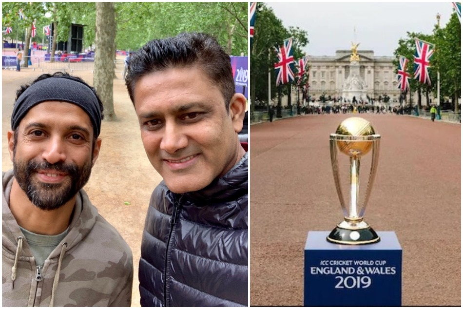 ICC World Cup 2019: Anil Kumble and Farhan Akhtar play 60 second challenge match
