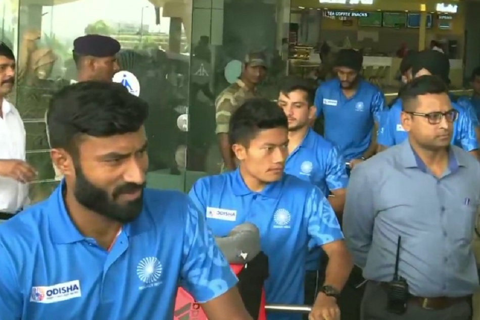 Indian Hockey team arrive at Bhubaneswar to prepare for FIH Men's Series Final