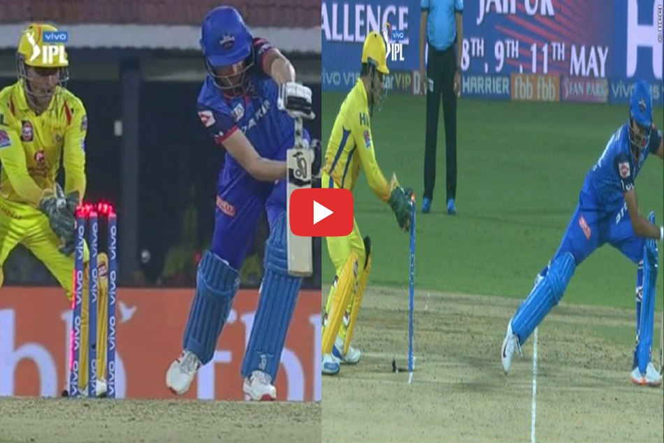 IPL 2019: MS Dhonis lightening Stumping to Chris Morris and Shreyas Iyer in an over, WATCH