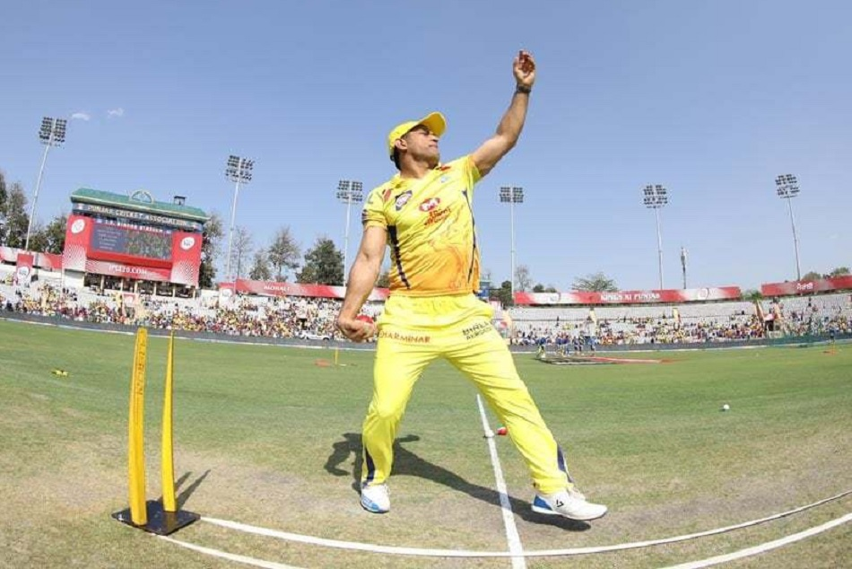 IPL 2019: MS Dhoni shows his bowling skills ahead of the last league match