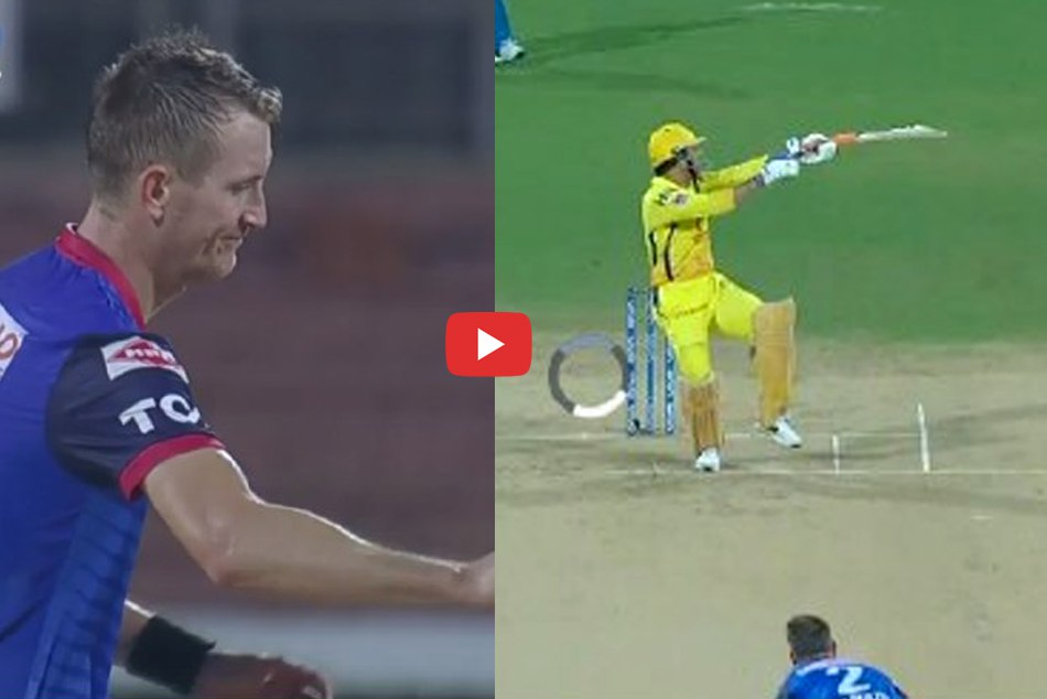 IPL 2019: When MS dhoni hits single handed Six on chris morriss beamer, Watch