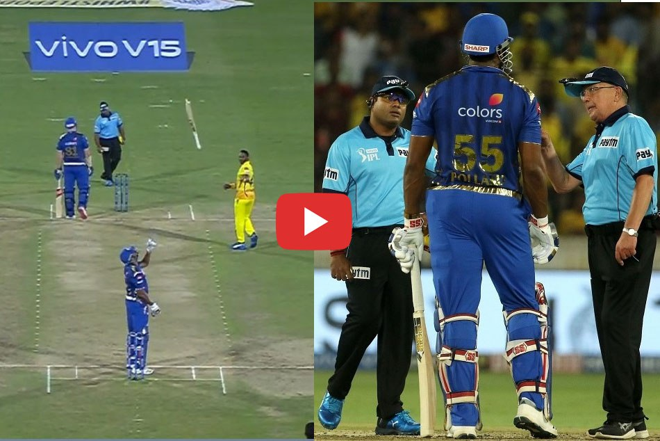 IPL 2019: Kieron Pollard has been fined for showing dissent at umpires decision