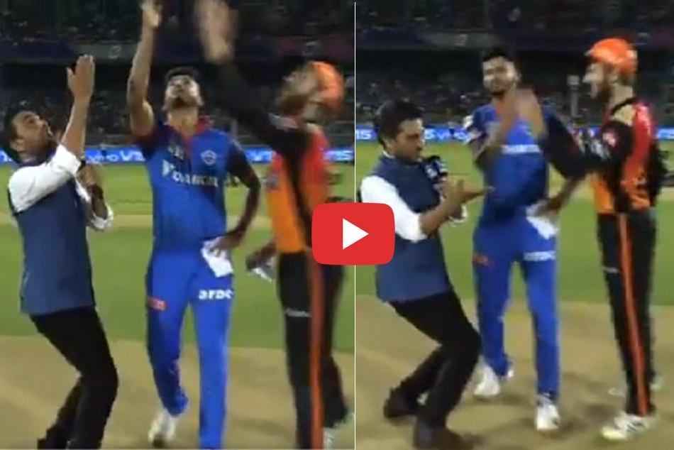 Ipl 2019 Very Eager To Kick Off Sanjay Manjrekar Stops Shreyas Iyer During Toss Video