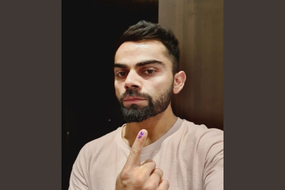 Virat Kohli casts his Vote in Gurugram urges everyone to do the same