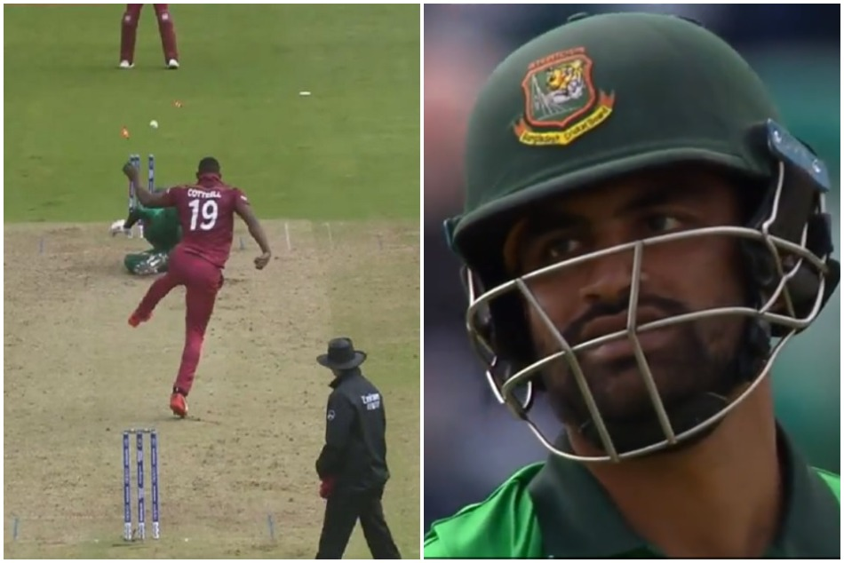 World Cup 2019 Sheldon Cottrell Dismiss Tamim Iqbal With Brilliant Throw Video