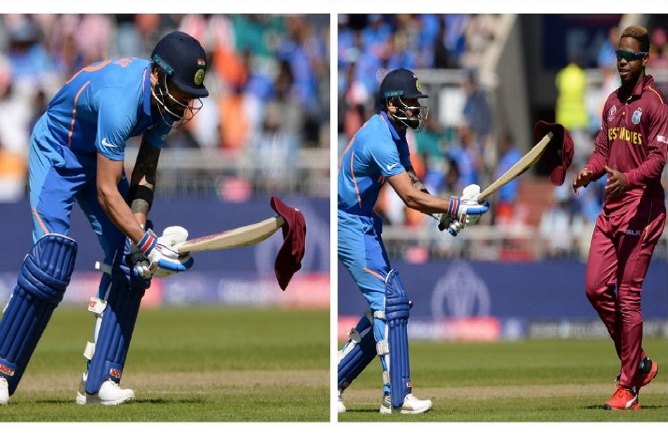 World Cup 2019: Virat Kohli gives Shimron Hetmyers drop hat with his bat