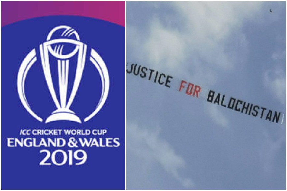 ICC gives clarification on the 'Justice for Balochistan' message flies over Headingley