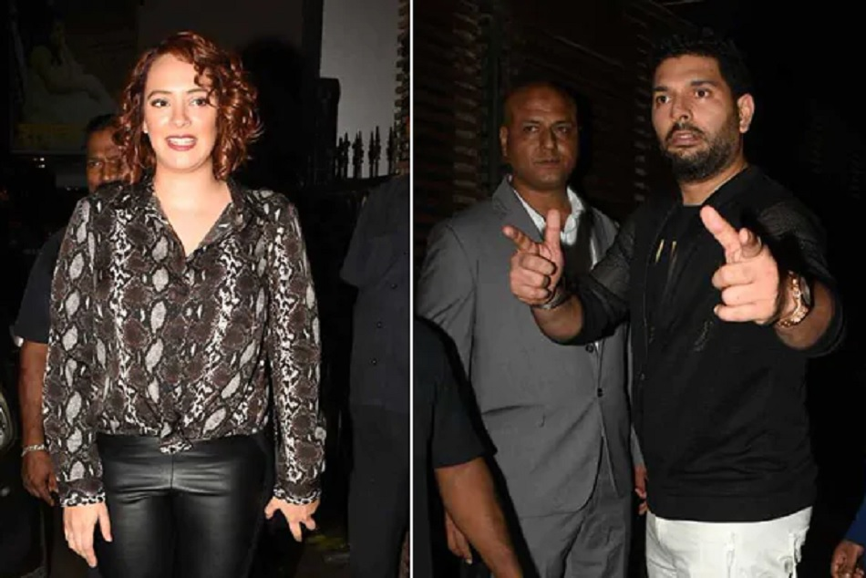 Kim Sharma Reached Yuvraj Singh S Retirement Party Pictures Gone Viral