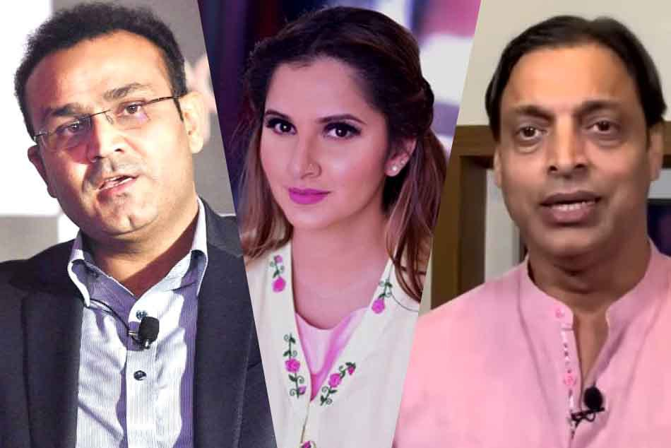 Virender Sehwag Shoaib Akhtar Silence Trolls Who Lashed Out Sania Mirza Blamed For Pakistan Defeat